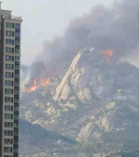 青岛两处山火复燃 目前火势如何
