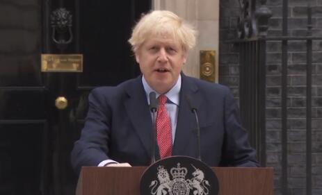 约翰逊病愈返岗后首次公开亮相 感谢拉布感谢英国民众