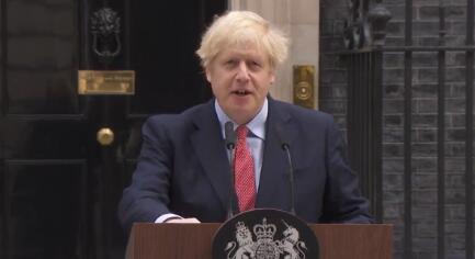 约翰逊病愈后首亮相 感谢拉布感谢英国民众