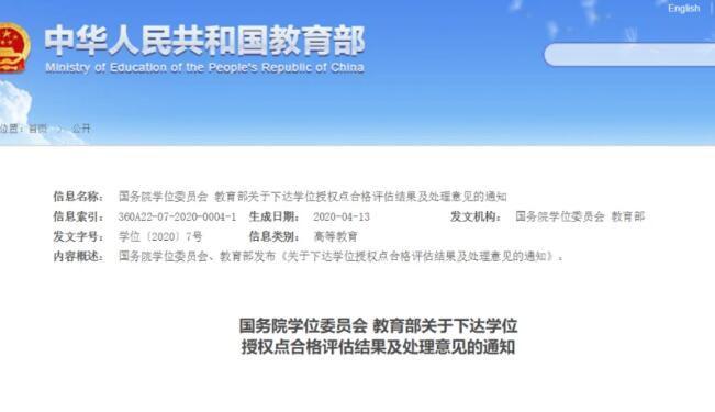 学位授权点检查 天津一高校被要求限期整改!