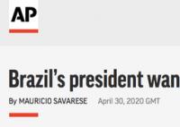巴西总统希望恢复足球比赛 球员身体好即使得新冠死亡率也低