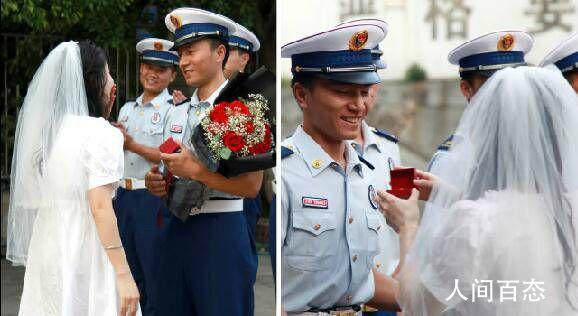 女幼师捧花向消防员男友求婚 这样的爱情太美了吧