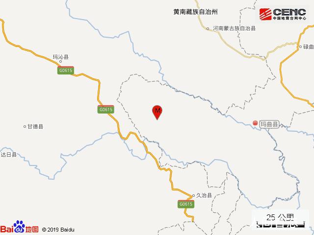 玛曲县3.1级地震 震中5公里范围内平均海拔约4096米