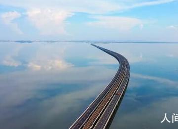南京天空之境石臼湖 碧水共长天一色