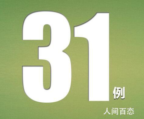 31省区市新增确诊31例 其中境外输入病例6例