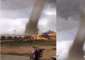 内蒙古龙卷风致33人受伤 100余顶蒙古包倾倒或受损