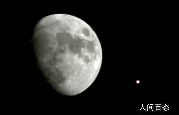 火星伴月今日上演 火星伴月在古代预示着什么