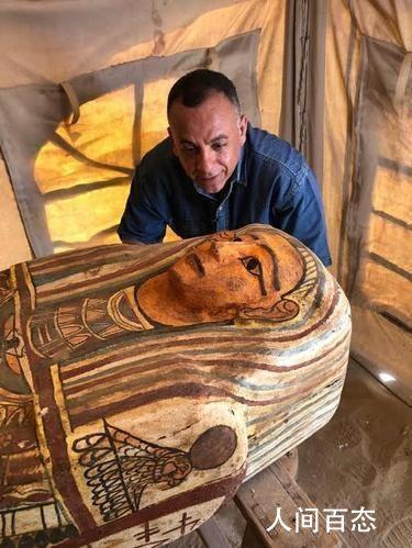 埃及出土59具2500年前的木棺 为同类型最大规模考古发现
