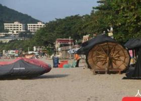 三亚涉海旅游23日8时起暂停 并做好各项防台措施