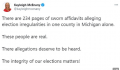 特朗普团队亮出百页选举欺诈证词 称出现死人票