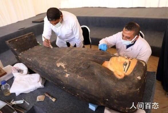 2500年前彩绘木棺 这是埃及本年度最大的考古发现