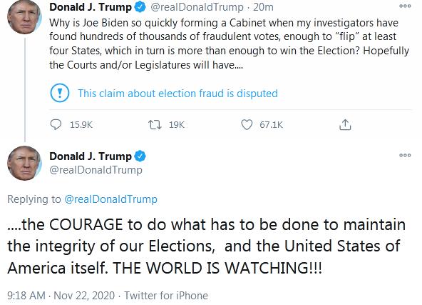 特朗普称发现数十万张欺诈选票 为什么这么说怎么回事