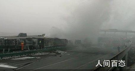 陕西40余辆车相撞已致多人死伤 目前现场正在救援之中