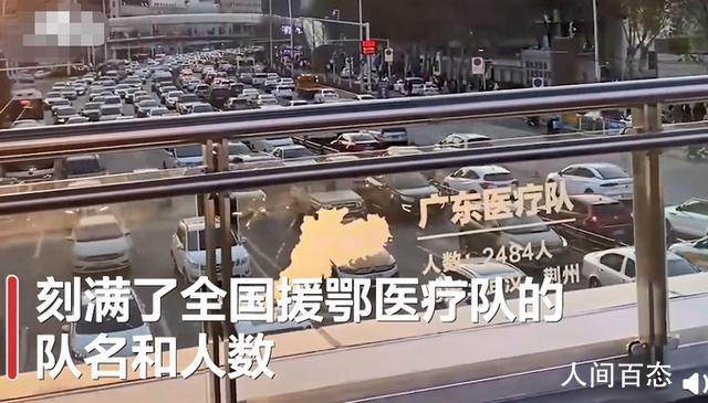 武汉一天桥刻满援鄂医疗队队名 致敬这一年真的不容易