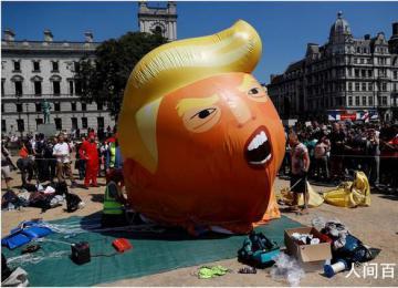 特朗普宝宝气球被收藏 将被伦敦博物馆收藏