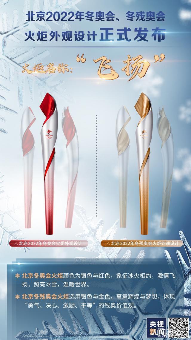 北京冬奥会火炬飞扬亮相 外观设计正式对外发布