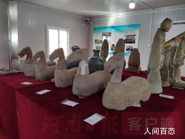 完整西汉陶仕女俑 对该墓葬和遗址的抢救性考古发掘在持续进行中