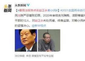 最高法报告点名赵正永和赖小民 网友大赞:反腐倡廉严厉打击黑势力