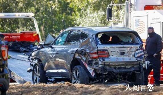 伍兹车祸原因曝光 因为速度太快导致车辆无法通过弯道