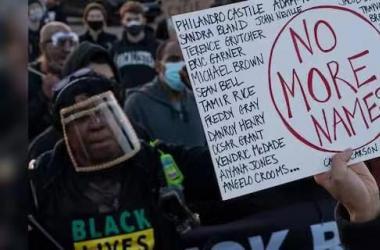 美多地民众抗议警察暴力执法 示威者涌上街头