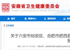 安徽通报新增2例确诊病例情况 目前均在当地市级定点医院隔离治疗