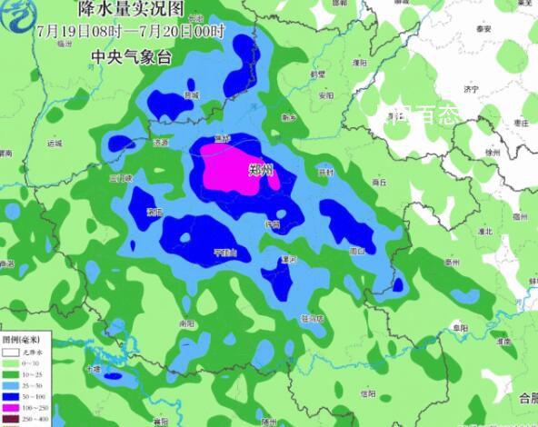 航拍雨后郑州:道路积水正退去