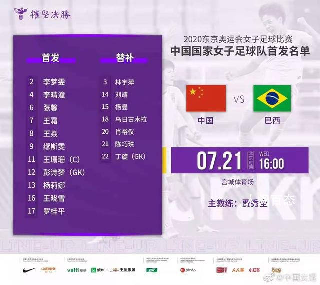 中国女足奥运首秀小组赛0-5不敌巴西